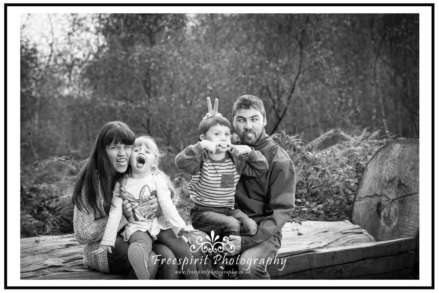funny family shoot