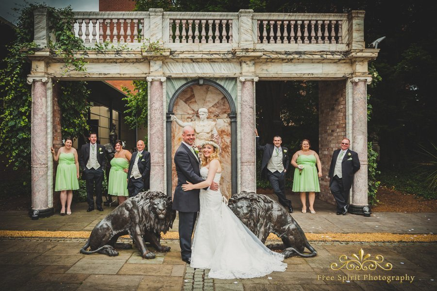 The Queens hotel chester wedding photographer